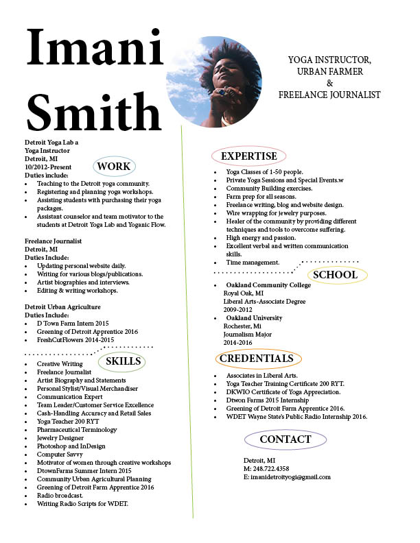 imani s resume in indesign elevatedailyy